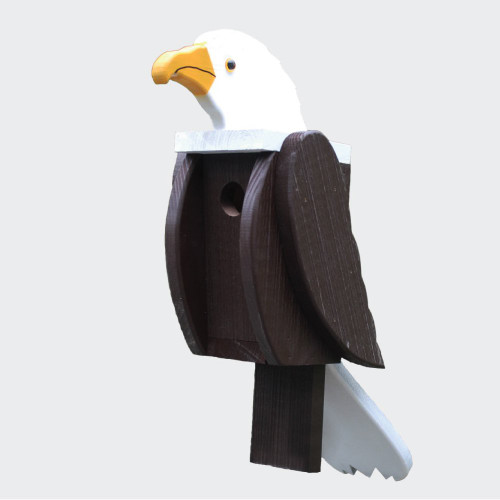 Amish handcrafted wooden birdhouse - eagle