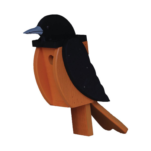 Amish handcrafted wooden birdhouse - oriole