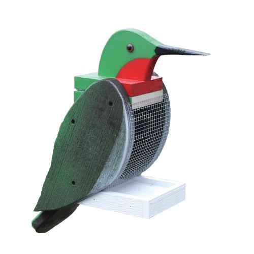 Amish handcrafted wooden bird feeder - hummingbird
