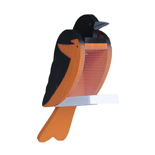 Amish handcrafted wooden bird feeder - oriole