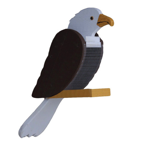 Amish handcrafted wooden bird feeder - eagle
