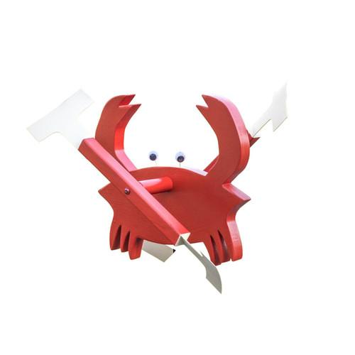 Whirligig garden stake - crab