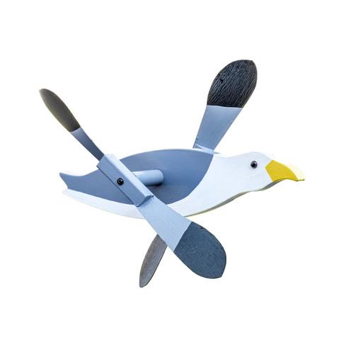 Whirligig garden stake - Seagull