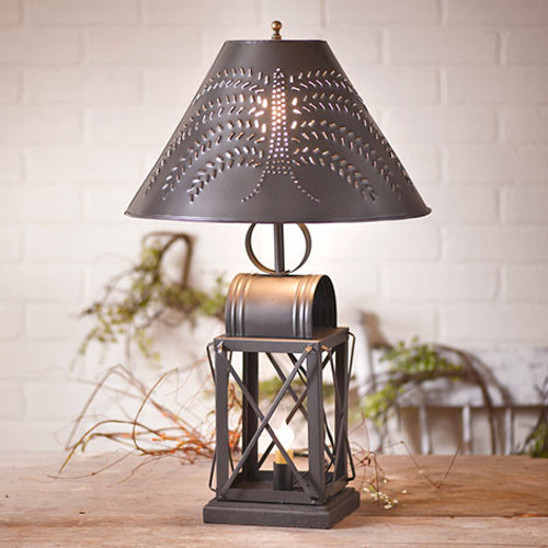 """Irvin's Keeping Room Lamp Pictured With Optional 15"""" Willow Shade"""