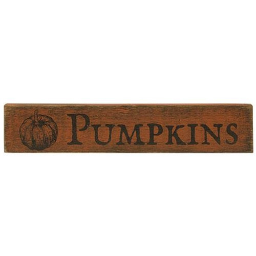 Pumpkin Wooden Sign