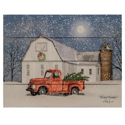 Wintry Weather Pallet Art
