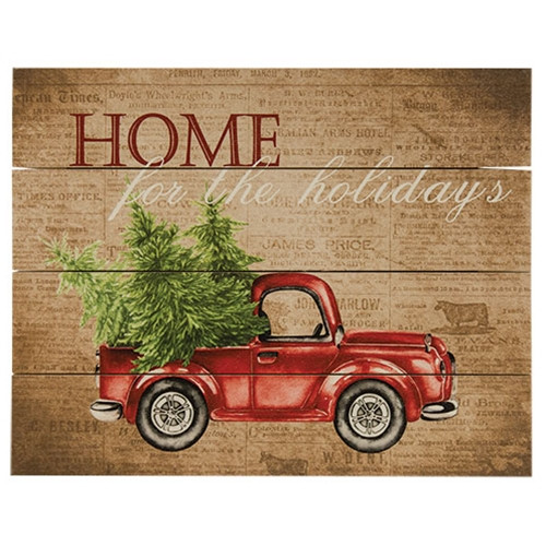 Home For the Holidays Pallet Art