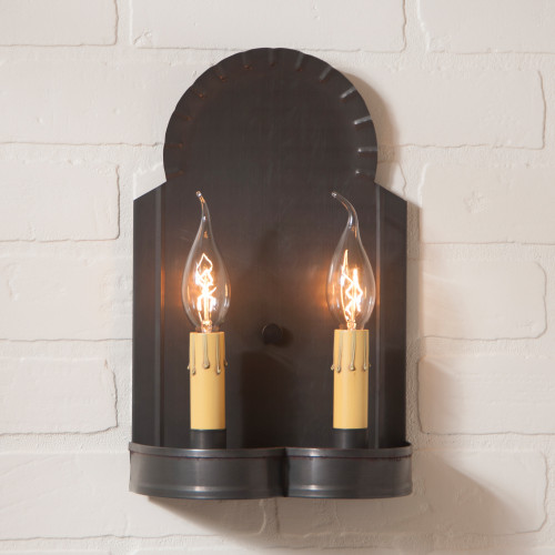Hanover Double Wall Sconce Finished In Kettle Black