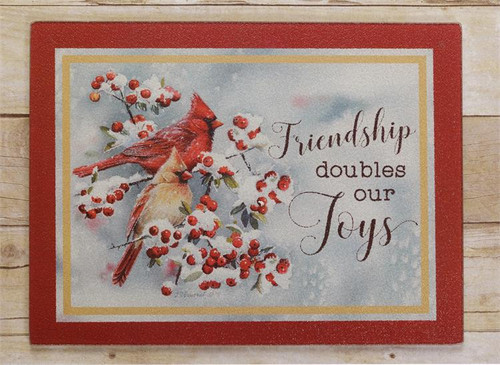 Friendship Doubles Our Joys Cutting Board