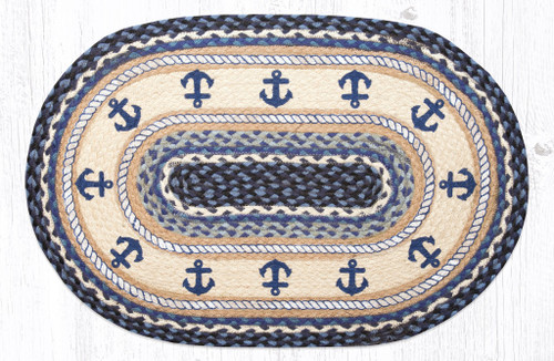 Anchor Oval Patch Rug