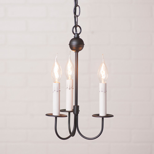 Irvin's Rustic Chandelier - Small 3 Arm