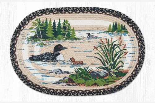 Loons Oval Rug