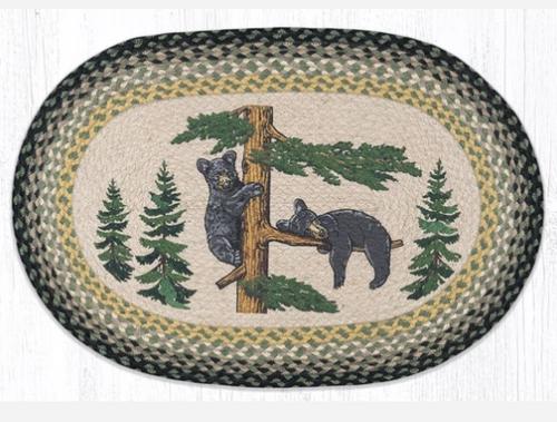 Bear Cubs Oval Rug