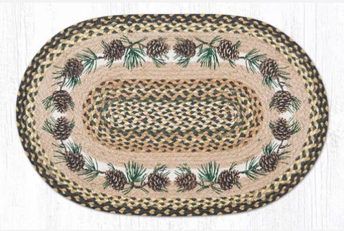 Needles and Cones Oval Rug