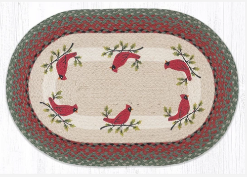 Holly Cardinal Oval Rug