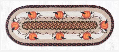 Pumpkin Crow Jute Table Runner