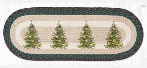 OP-508 Christmas Tree Jute Table Runner