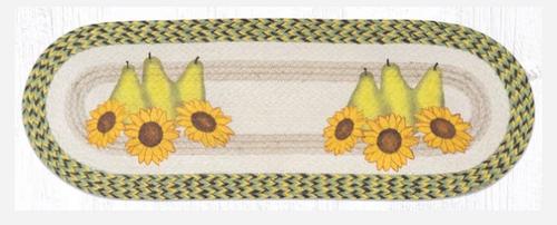 Pears & Sunflowers Jute Table Runner