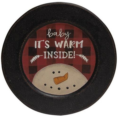 Baby It's Warm Inside Plate