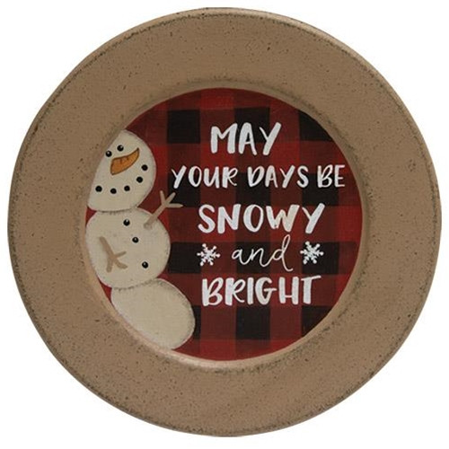 Snowy and Bright Plate