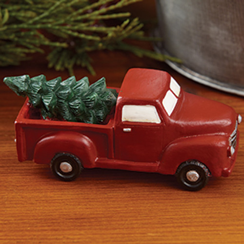 Little Red Truck With Tree