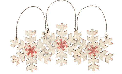 Cream Snowflake Ornament Set