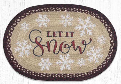 Let It Snow Braided Rug