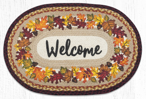Autumn Welcome Braided Rug