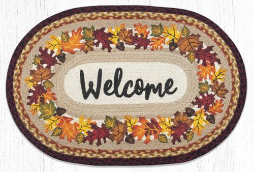 Autumn Welcome Braided Rug
