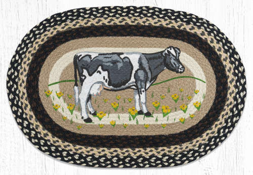 Cow In Field Braided Rug