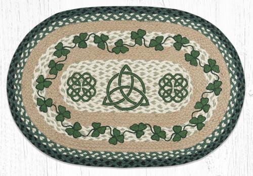 Irish Shamrock Braided Rug