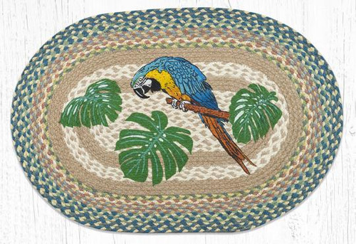 Parrot Patch Braided Rug