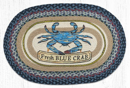 Fresh Blue Crab Braided Rug