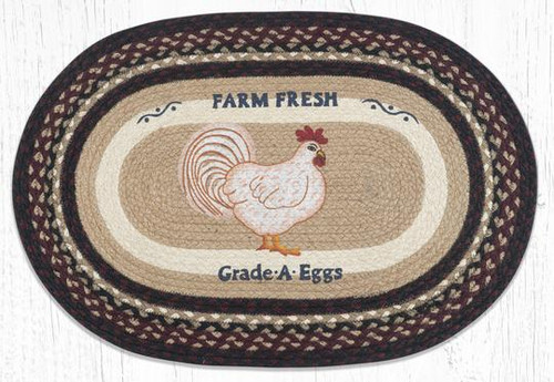 Farmhouse Chicken Braided Rug