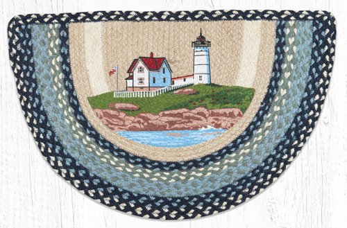 Nubble Lighthouse Braided Rug