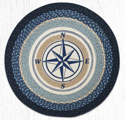 Compass Rose Round Braided Rug