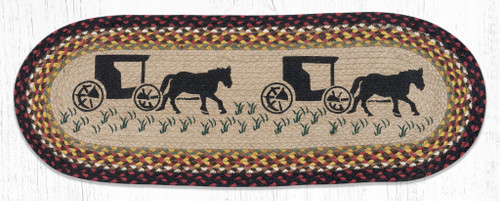 Amish Buggy Jute Table Runner