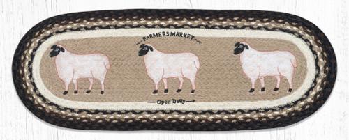 Farmhouse Sheep Jute Table Runner