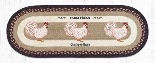 Farmhouse Chicken Jute Table Runner