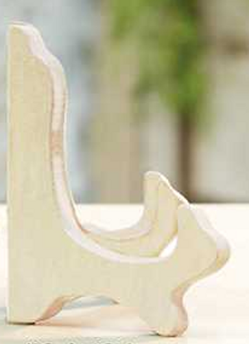 Plate Stand Wooden Soft White - Small