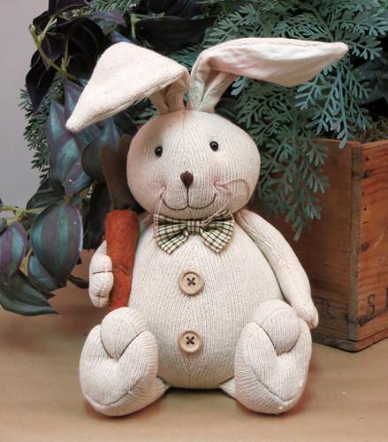 Sitting Fabric Rabbit with Legs