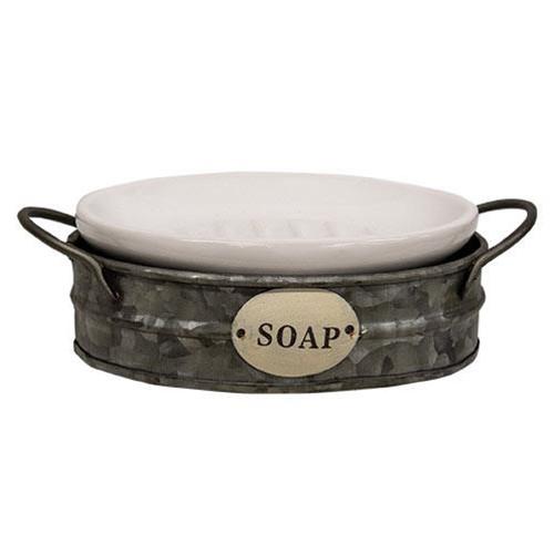 Galvanized Wash Bin Soap Dish