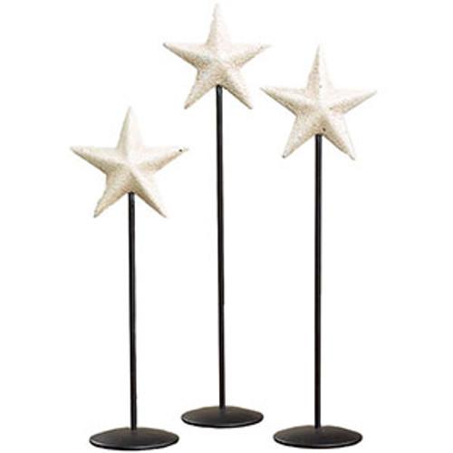 Little Age White Barn Star Pedestal