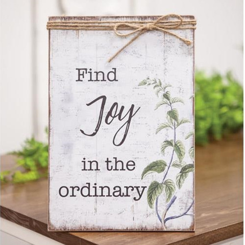Find Joy In The Ordinary Jute Wrapped Sign