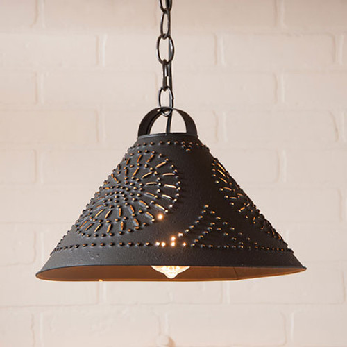 Irvin's Hitchcock Shade Light With Chisel Design