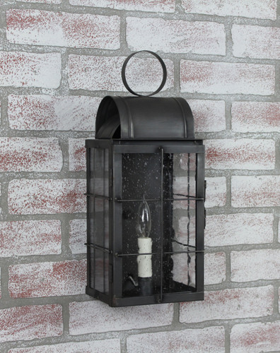 Katie's Handcrafted Lighting Small Danbury Outdoor Wall Lantern - Finished In Dark Brass