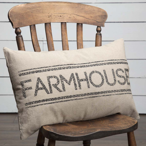 Sawyer Mill Charcoal Farmhouse Pillow