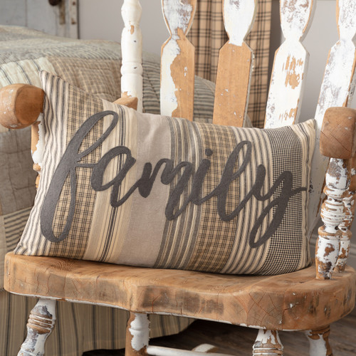 Sawyer Mill Charcoal Family Pillow