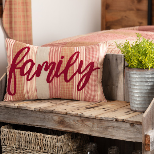 Sawyer Mill Red Family Pillow