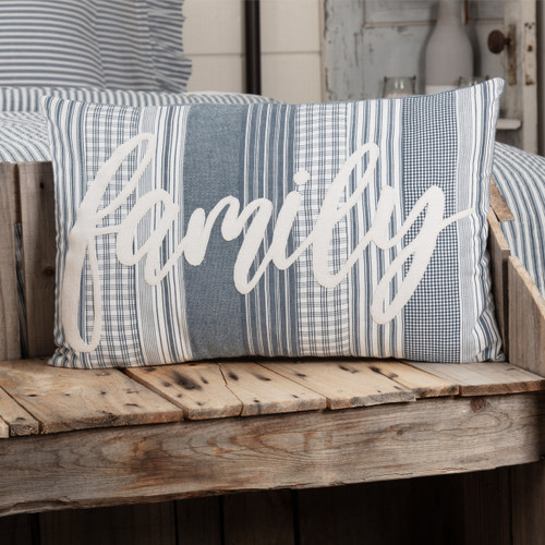 Sawyer Mill Blue Family Pillow